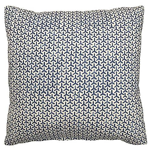 Luna 20x20 Cotton Pillow, Lake Blue