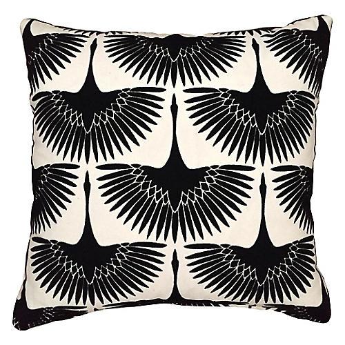 Anca 20x20 Pillow, Onyx Black