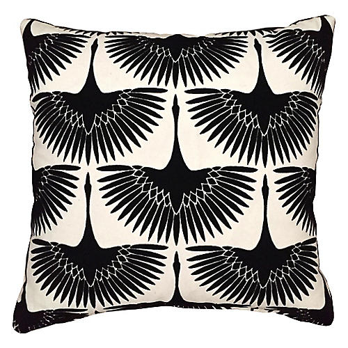 Anca 20x20 Pillow, Onyx Black