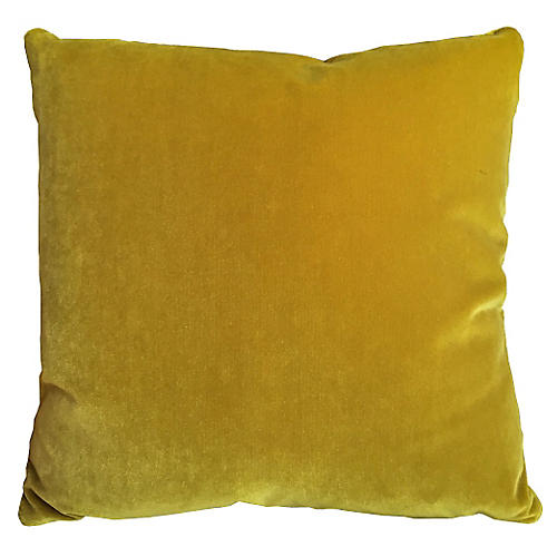 Champlain 20x20 Velvet Pillow, Citrine