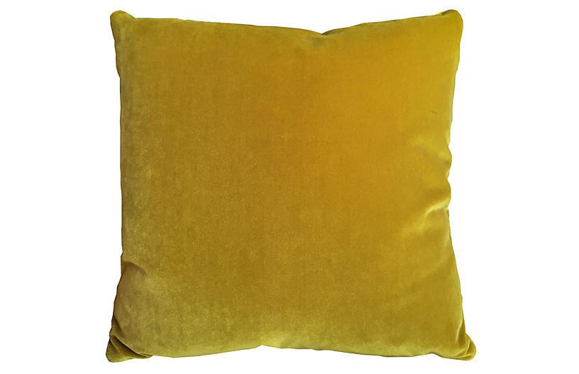 Champlain 20x20 Velvet Pillow, Citrine
