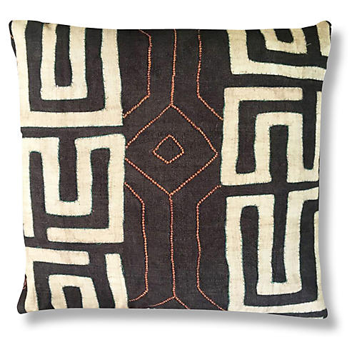 Bantu 24x24 Pillow, Mocha