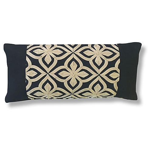 Bembe 14x28 Pillow, Black