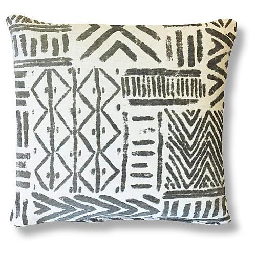 Bissau 20x20 Pillow, Gray