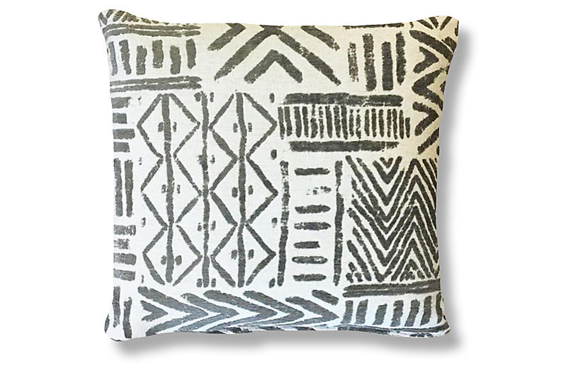 Bissau 20x20 Pillow - Gray - Kim Salmela