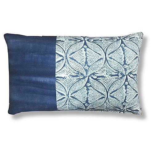 Dalai 14x20 Ombre Pillow, Indigo