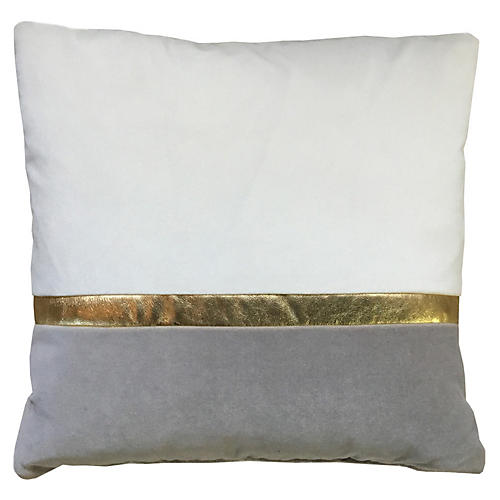 Color-Block 20x20 Pillow, Ivory