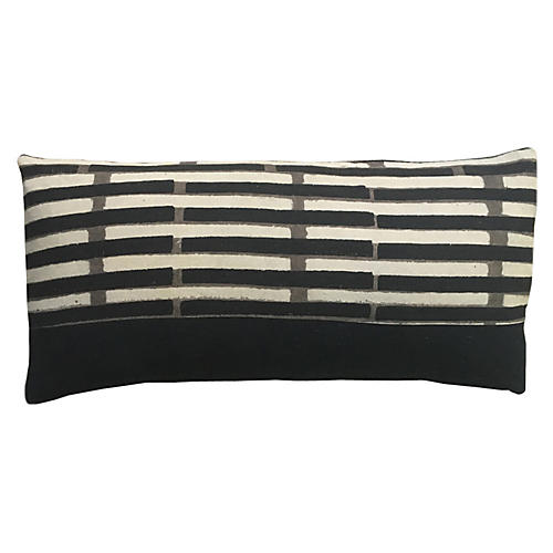 Janu 14x28 Lumbar Pillow, Peppercorn Black