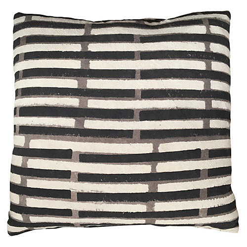 Janu 20x20 Pillow, Peppercorn Black