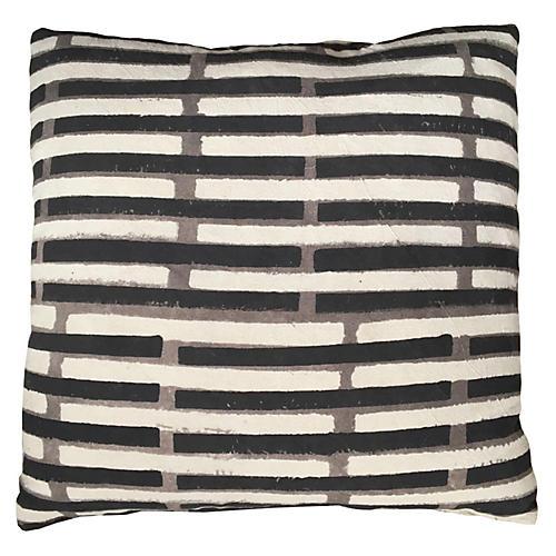 Janu 20x20 Pillow, Peppercorn Black
