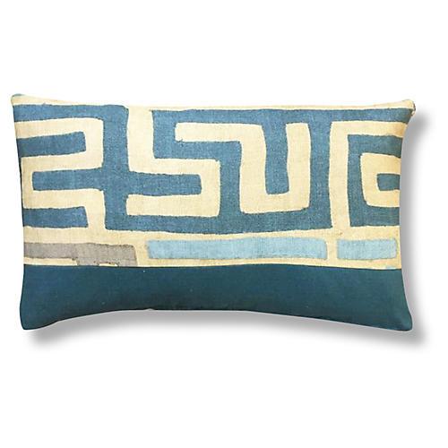 Kumba 14x20 Pillow, Cyan