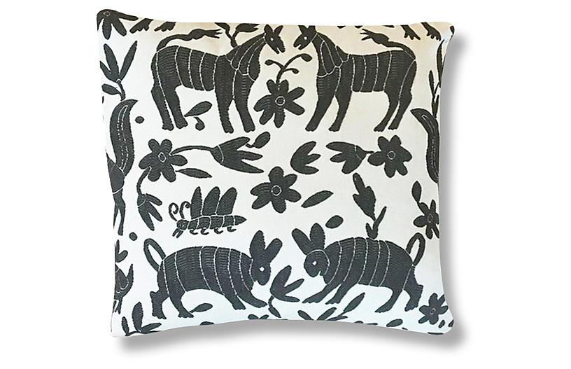 Pina Otomi 22x22 Pillow - Ash - Kim Salmela