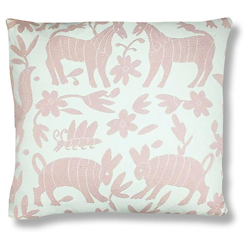 Pina Otomi 22x22 Pillow, Blush