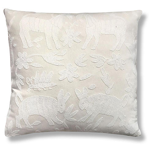 Pina Otomi 22x22 Pillow, Ivory