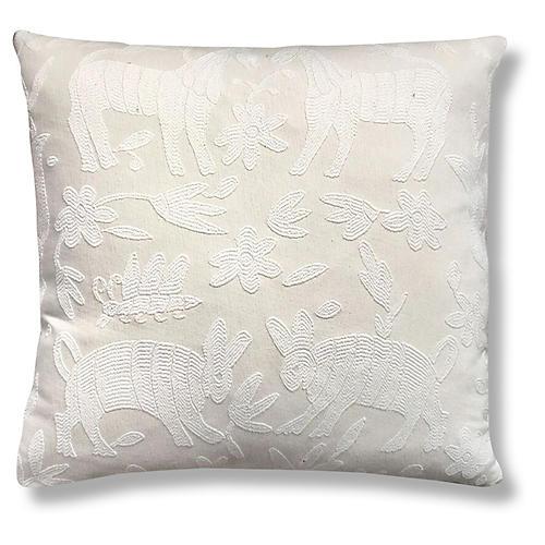 Pina Otomi 22x22 Pillow, Ivory
