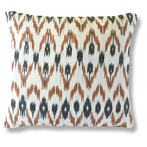 Rahi 20x20 Pillow, Brown/Black