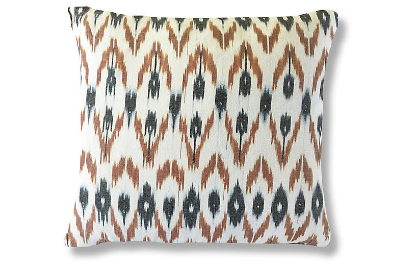 Rahi 20x20 Pillow, Brown/Black