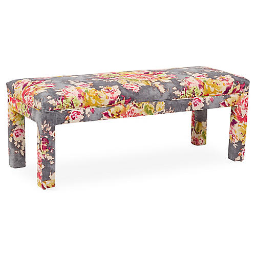 Brittany Bench, Gray/Pink