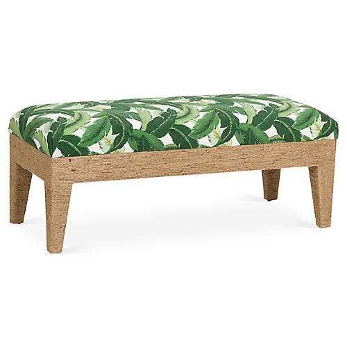 Del Mar Bench, Green/Multi