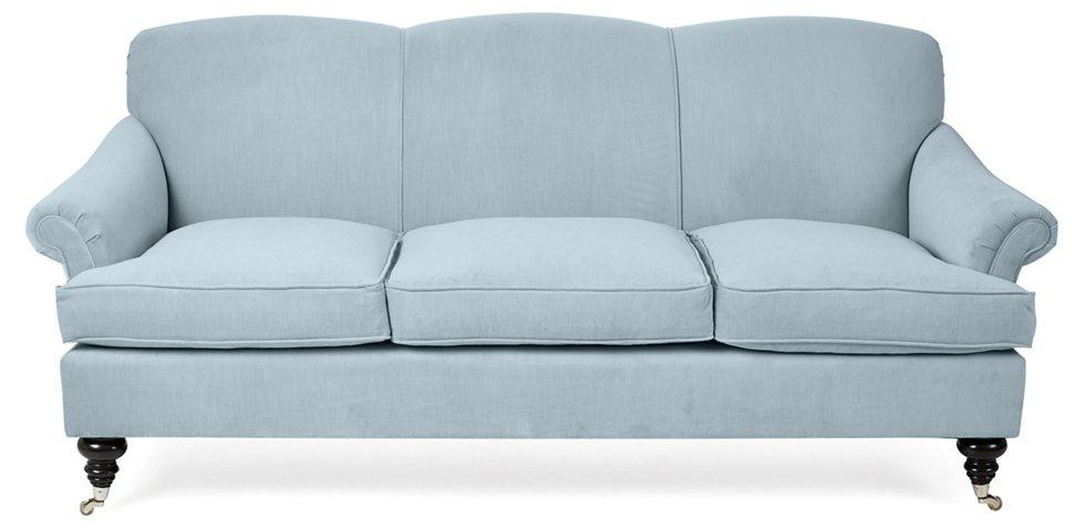 Joplin Sofa Sky Blue Velvet Sofas Settees Living Room Furniture One Kings Lane