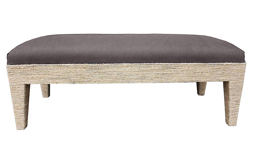 Del Mar Bench, Charcoal Crypton