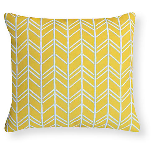 Torrance 20x20 Outdoor Pillow, Yellow