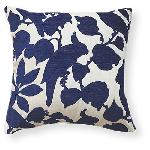 Emery 20x20 Outdoor Pillow, Indigo