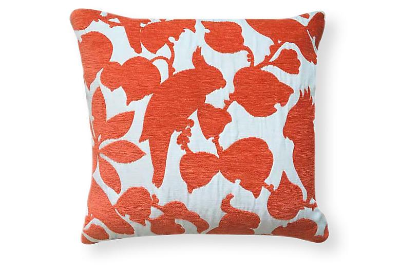 Emery 20x20 Outdoor Pillow, Orange