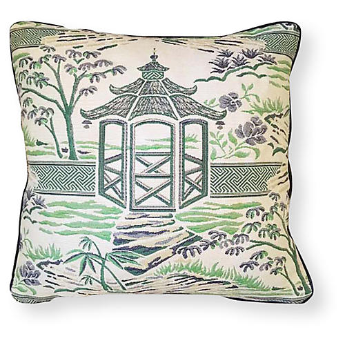 Zen 20x20 Outdoor Pillow, Emerald