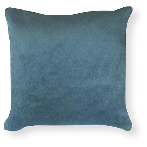 Velvet 20x20 Outdoor Pillow, Aqua