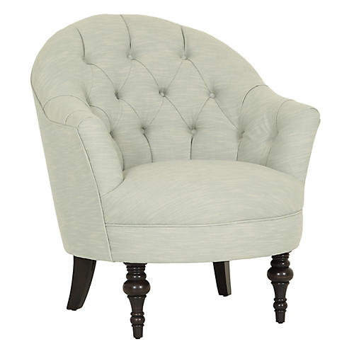 Elizabeth Accent Chair, Mist Crypton