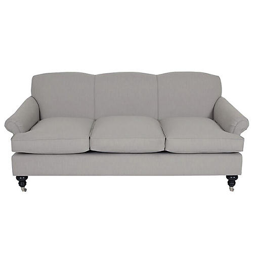 Joplin Sofa, Greige Crypton