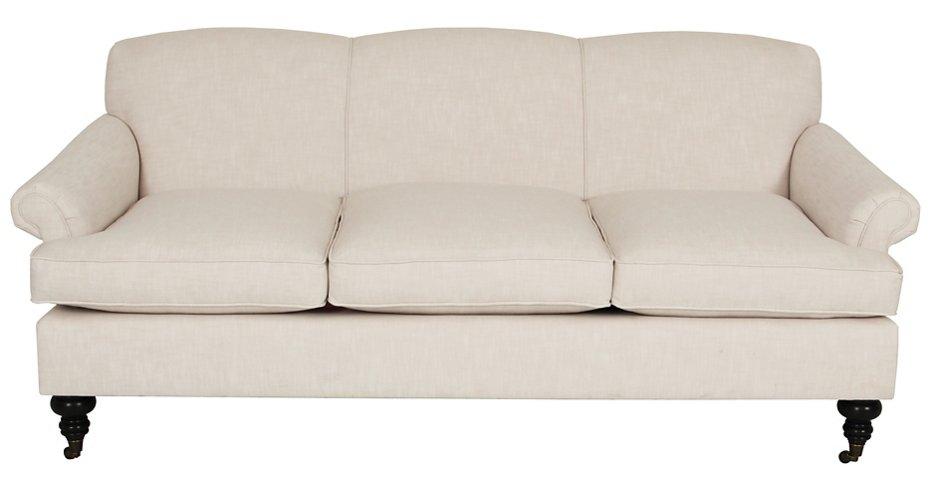 Joplin Sofa Ivory Crypton Sofas Settees Living Room Furniture One Kings Lane