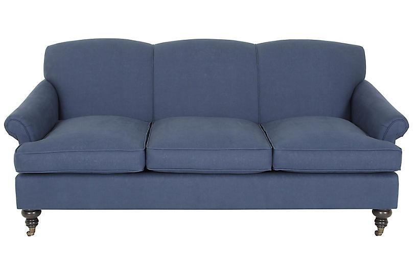 Joplin Sofa, Navy Linen