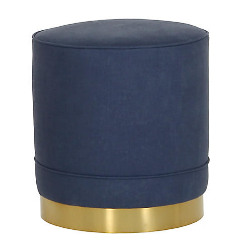 Piper Stool, Navy Linen