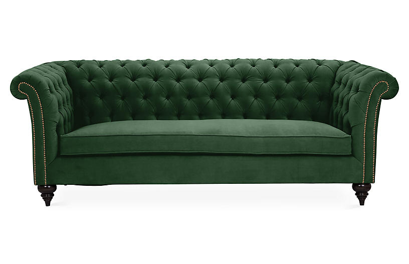 Kim Salmela Hawkins Chesterfield Sofa