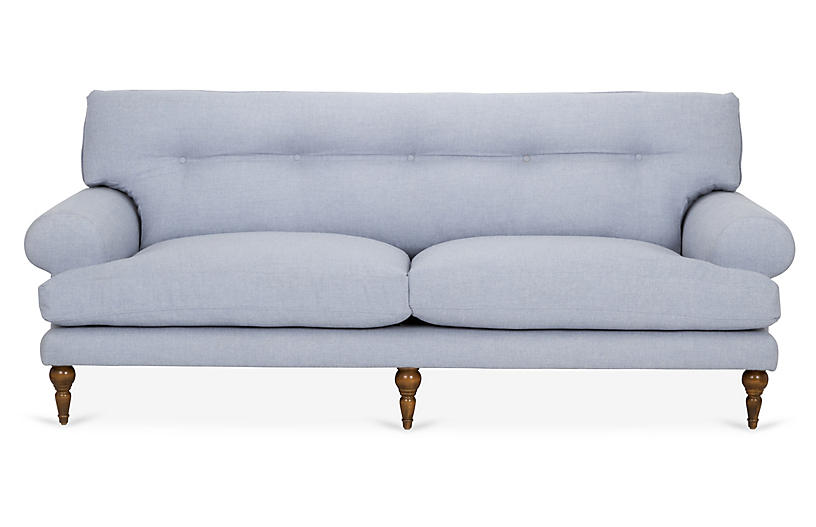 Charles Sofa, Blue Crypton