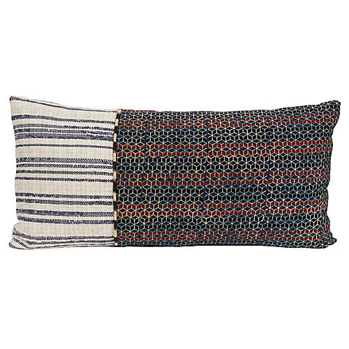 Sambit 14x28 Lumbar Pillow, Blue