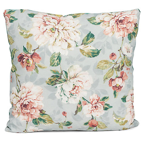 Bella 20x20 Pillow, Whisper Blue/Multi