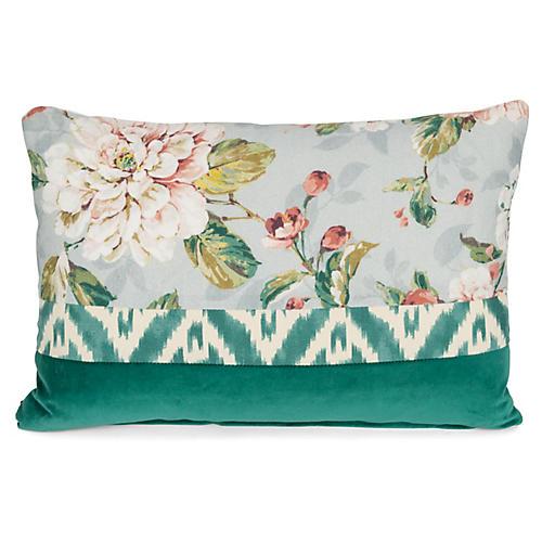 Bella 14x20 Lumbar Pillow, Green/Multi