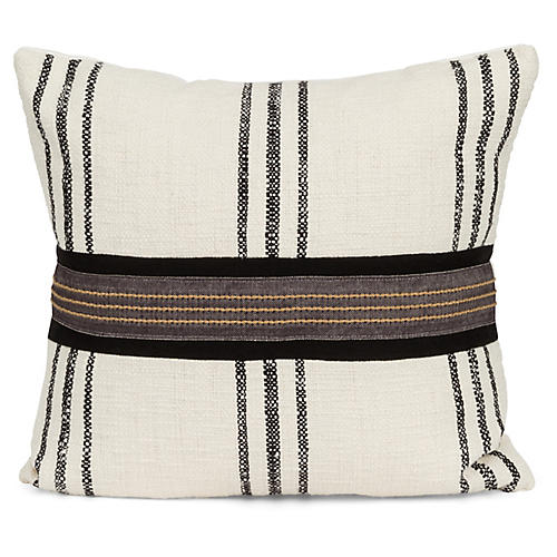 Raffia 20x20 Pillow, Black