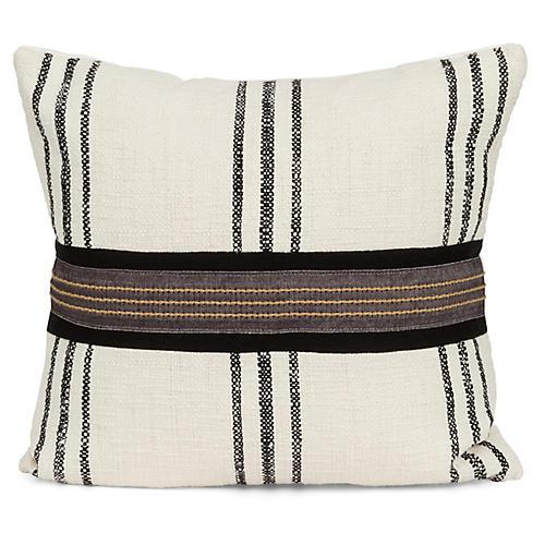 Raffia 20x20 Pillow, Black