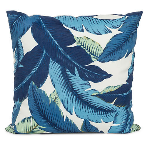 Havanna Palm 20x20 Pillow, Blue
