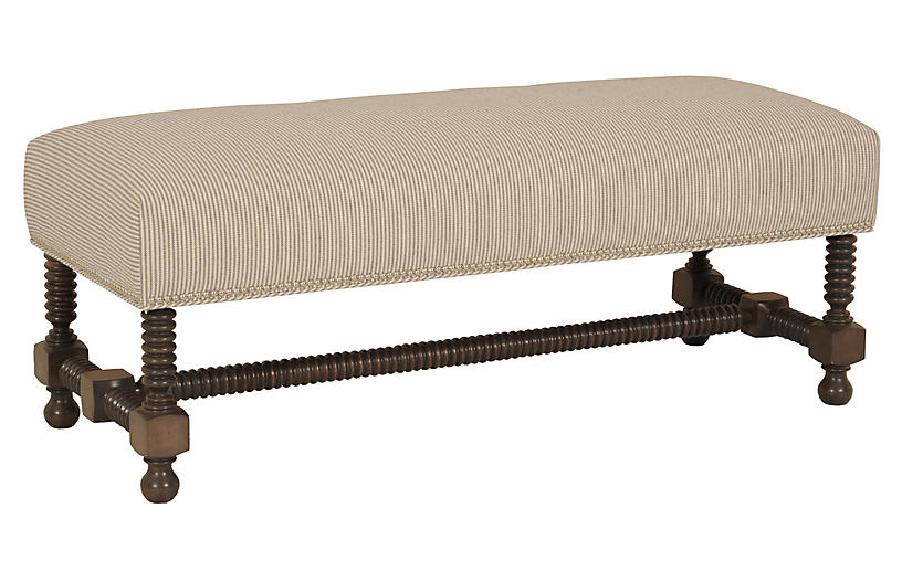 Essex Bench, Gray/Natural