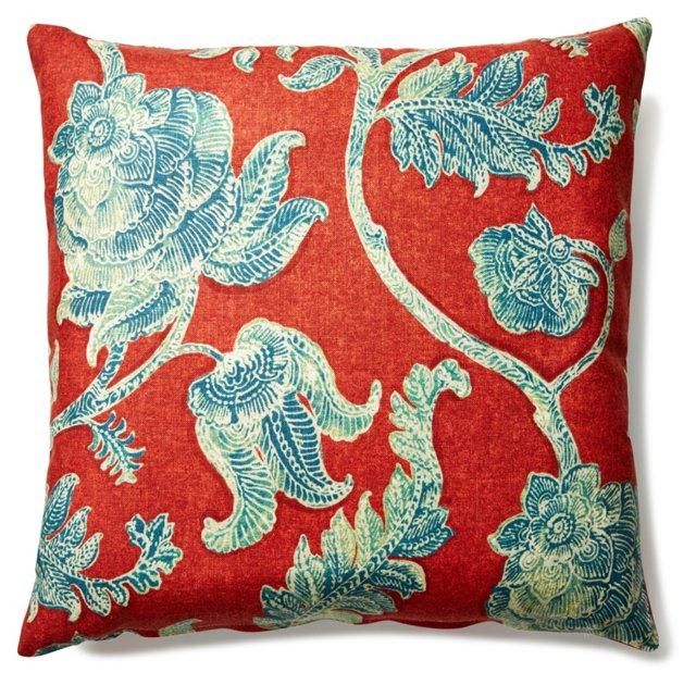 Nancy 20x20 Linen-Blended Pillow, Multi