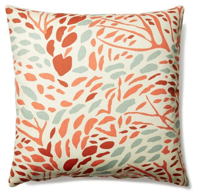 Abel 20x20 Linen-Blended Pillow, Multi