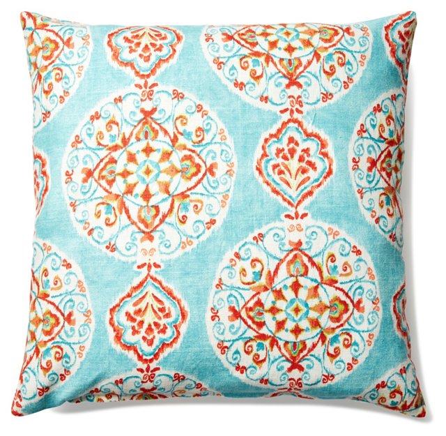 Flair 20x20 Linen-Blended Pillow, Multi