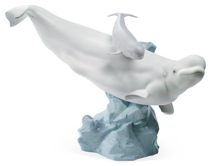 Beluga With Calf