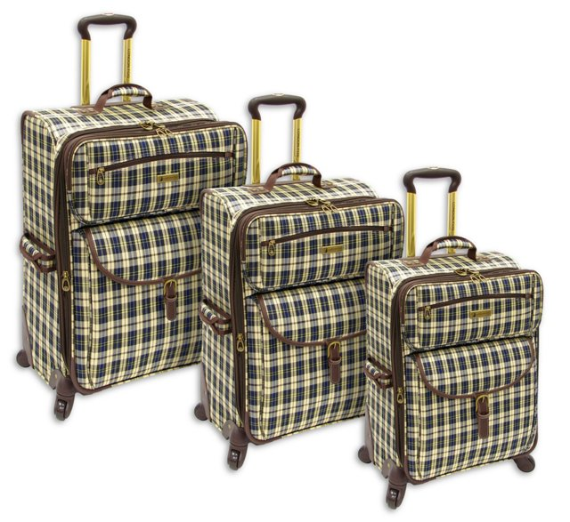 3-Piece Regent Luggage Set, Plaid