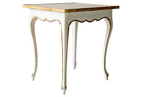 Regent Side Table, Antiqued White